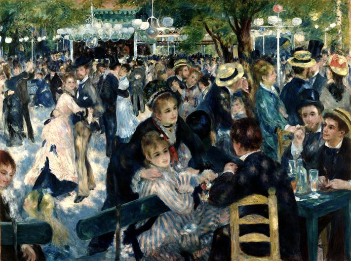 Auguste Renoir ball at Le Moulin de la Galette