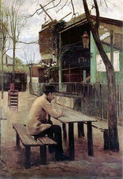 Rusiñol En el parque de Moulin de la Galette 1895