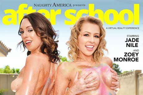 """After School"" featuring Zoey Monroe and Jade Nile vr porn"