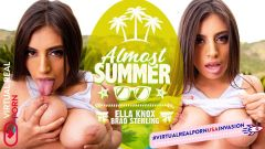 Almost summer Brad Sterling & Ella Knox VR Porn