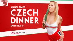 Czech dinner Angel Piaff vr porn