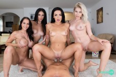 CzechVR Twister Fivesome: Part 2 - Jennifer Mendez, Lilly Bella, Mia Trejsi, Zuzu Sweet VRPorn