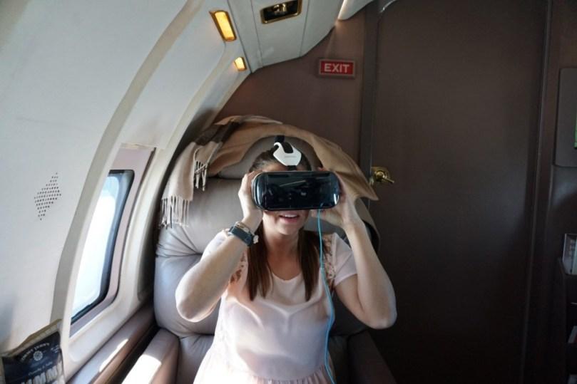 Inflight Virtual Reality GoGo GearVR