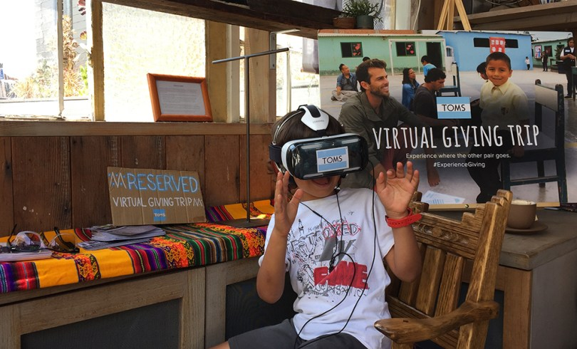 TOMS Virtual Reality Giving Trip 360 Store