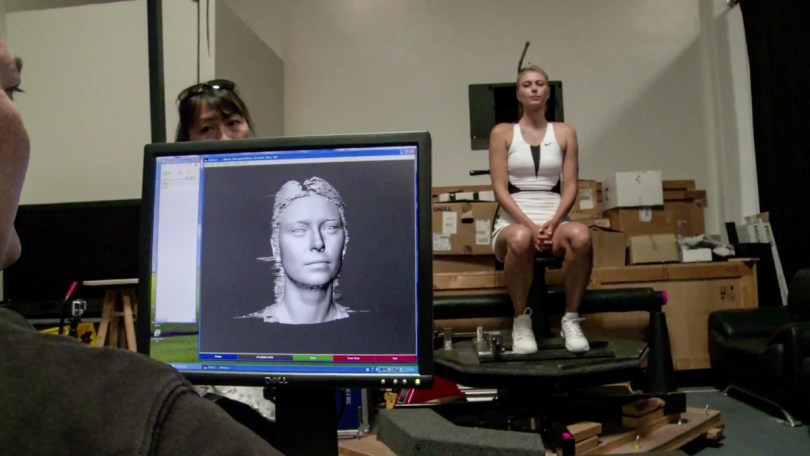 Sharapova 3D head scan