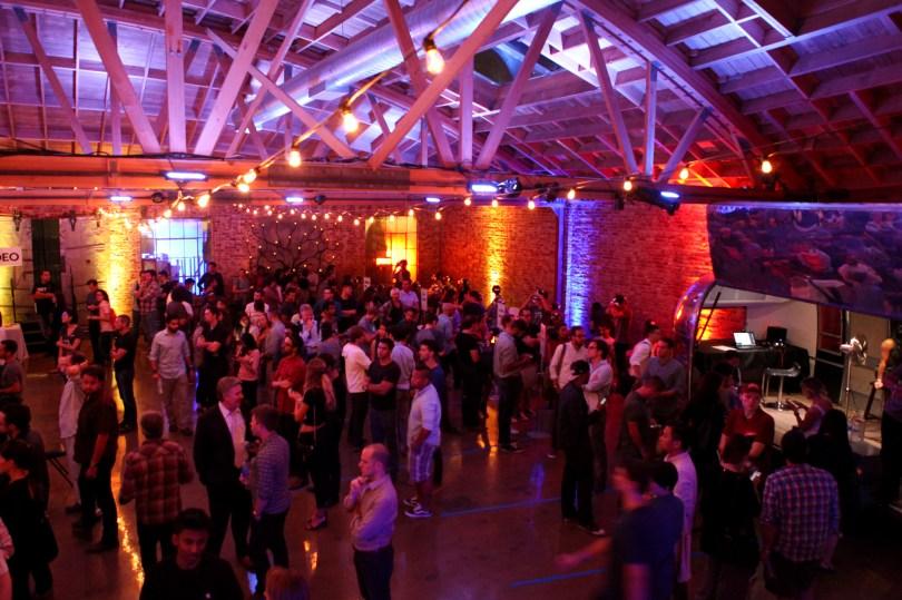 Floor of Kaleidoscope VR Film Festival in Los Angeles
