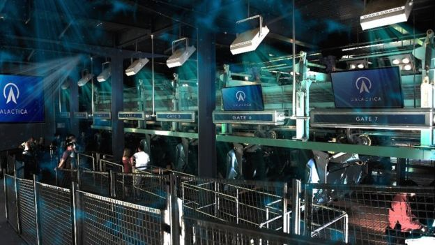 Passengers will lie flat on the Galactica VR roller coaster