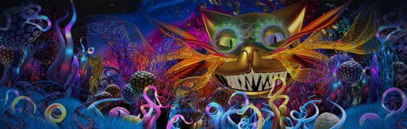Get serenaded by the Cheshire Cat with an original composition by Damon Albarn with lyrics by Moira Buffini