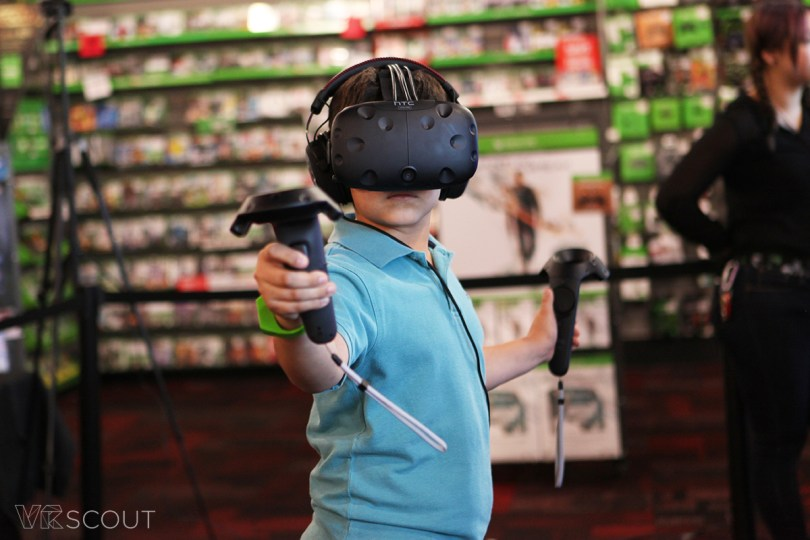 HTC Vive at GameStop.