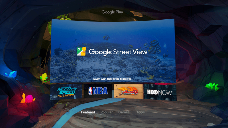 Google VR Playstore on Daydreams platform.