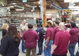 Don Driscoll plant manager describing plant projects