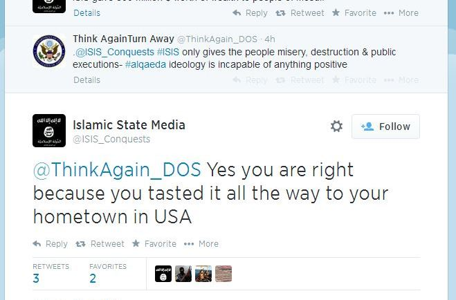 ISIS vs DOS Twitter