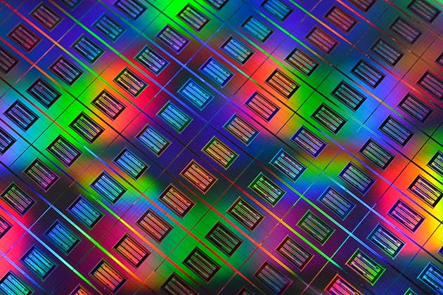 Memristors On Wafer
