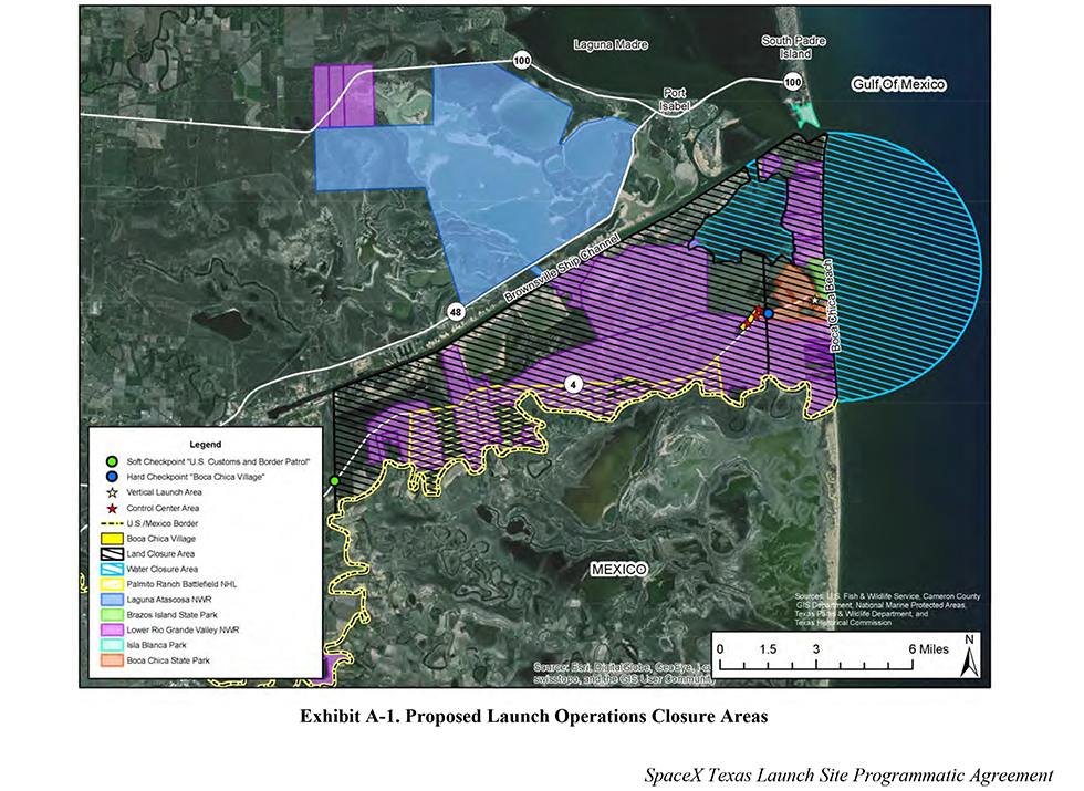 Proposed SpaceX Spaceport Launch Site