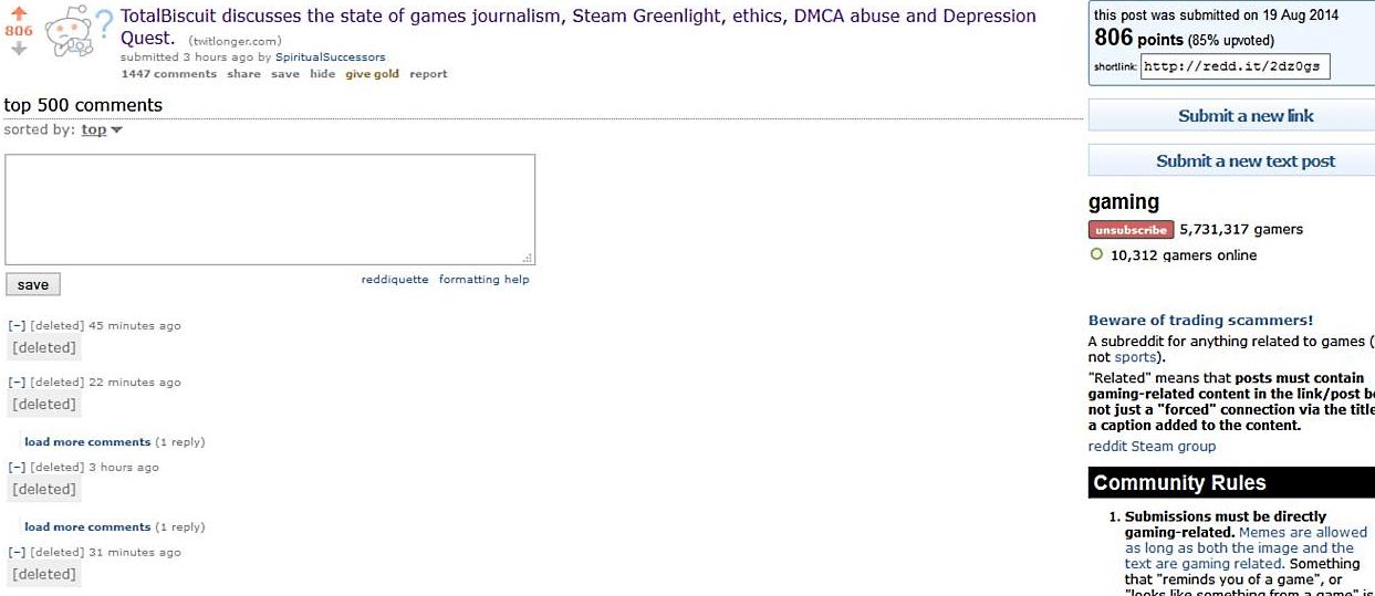 Reddit Censor
