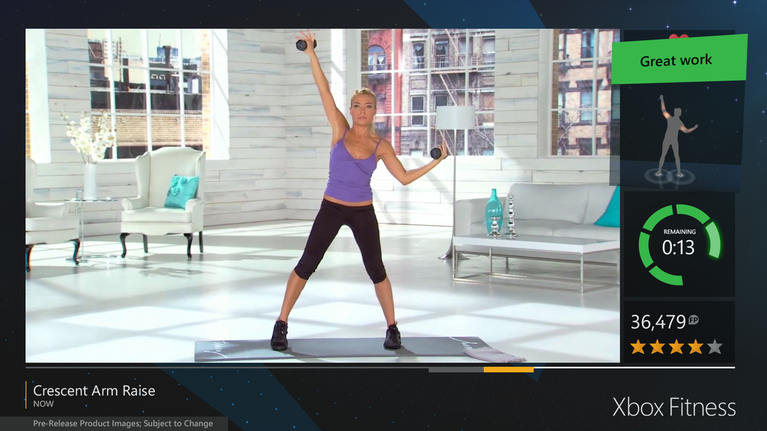 The Xbox One can be tapped for workouts, using the Kinect to map body movements and keep track of heart rate.