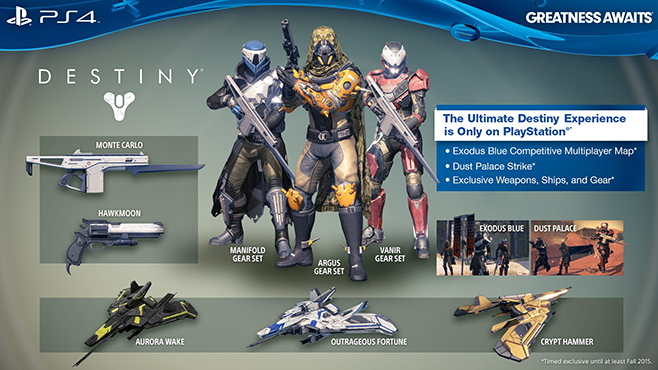 Destiny PS4 Exclusive