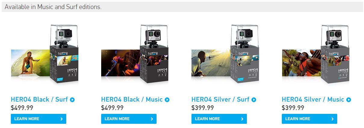 GoPro Hero4 Surf And Music