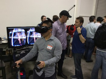 A player fights the Sith with a virtual lightsaber using the Sixsense controller.