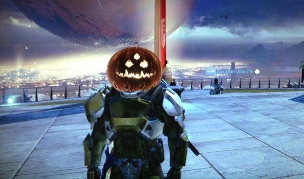 Destiny Celebrates Halloween With Jack-o-Lantern Masks