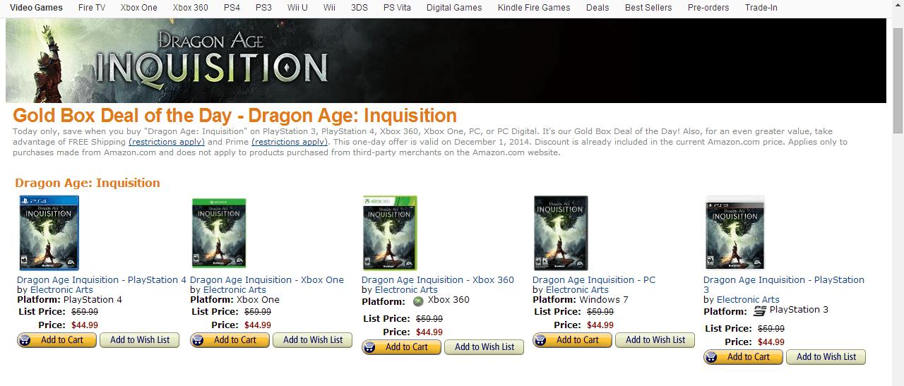 Amazon Dragon Age