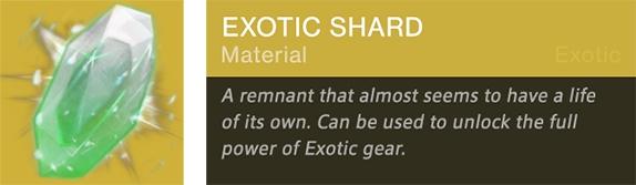 Destiny Exotic Shard 2