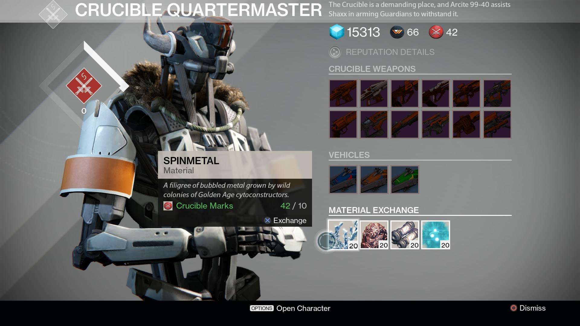 Destiny trading system update