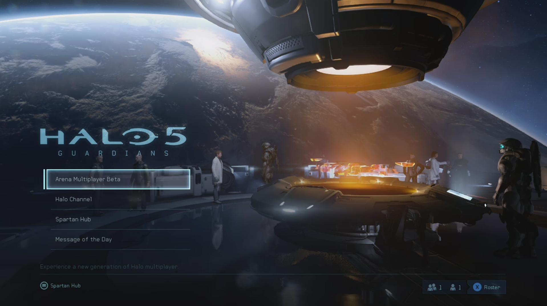 Halo 5 Guardians Main Screen