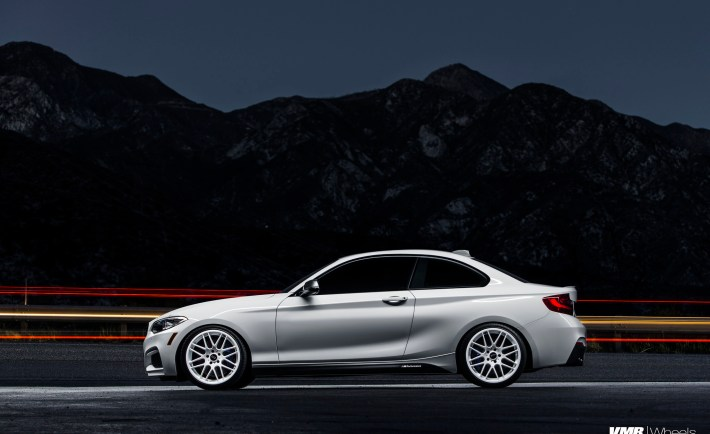 Alpine White BMW M235i On VMR 703 Wheels
