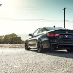 Black Sapphire Metallic BMW F82 M4 With Vorsteiner Aero And Wheels