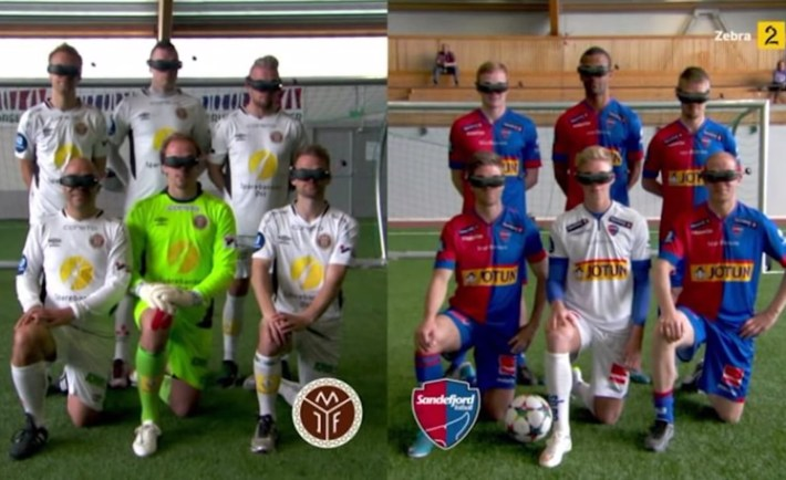 Two Iceland teams met for a Football match using VR headsets with catastrophic results. Still, AR headset could be interesting.