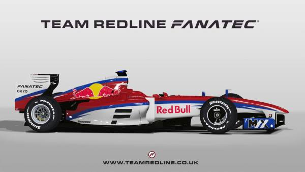 Team Redline virtual Formula 1 car for Max Verstappen. Photo credit: Team Redline