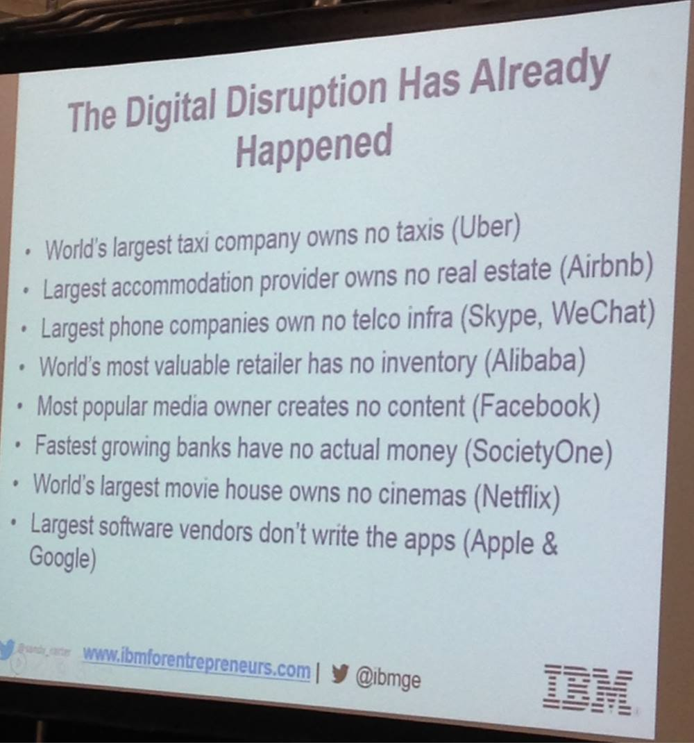 According to an internal slide from IBM, the company believes the disruption already happened.