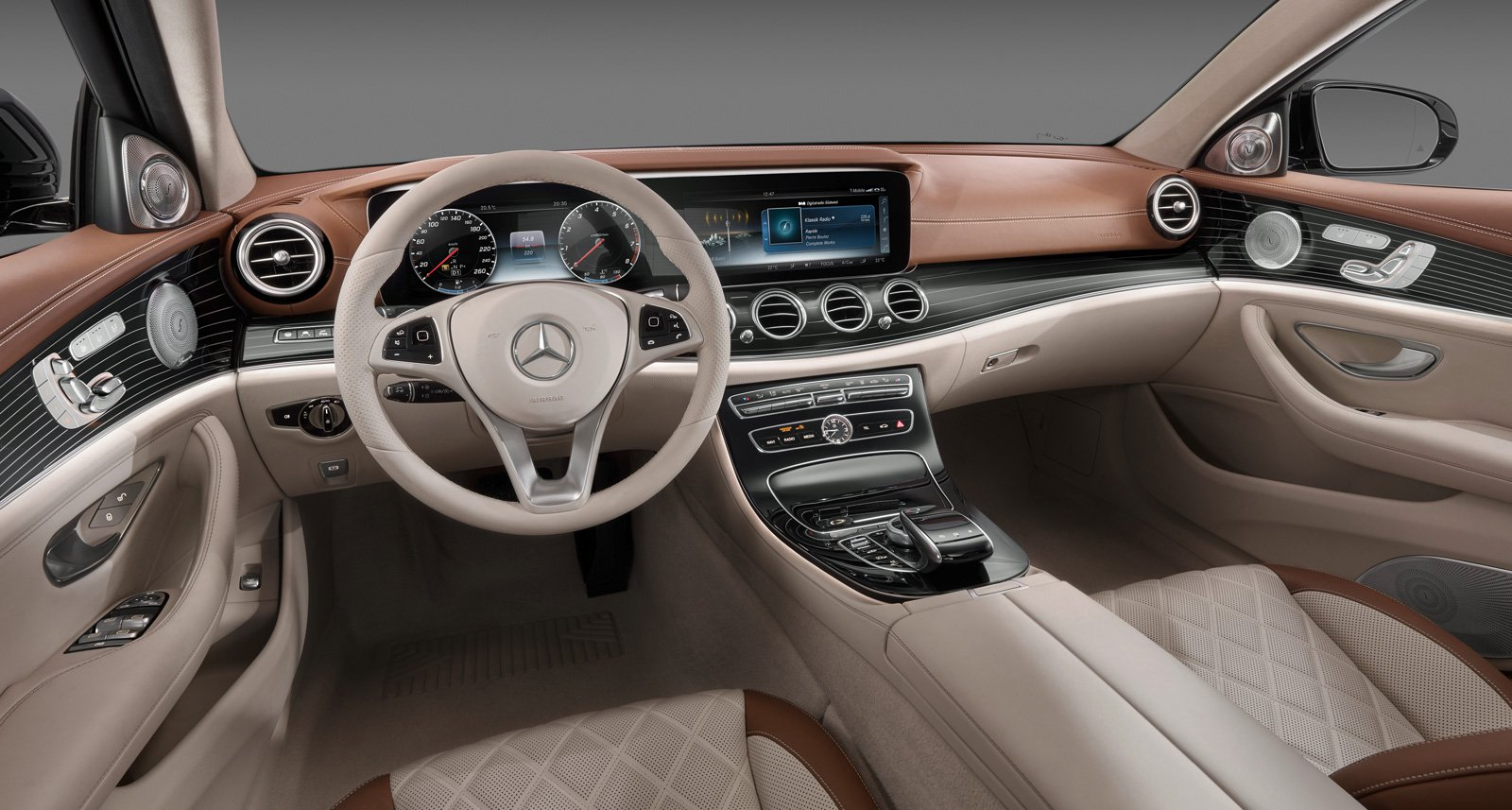 """The interior of the 2017 E-Class is dominated by two 12.3"""" displays which the world saw first in Tesla Model S."""