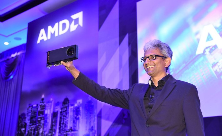 Raja Koduri, Chief Architect for Radeon Technologies Group shows off $199 Radeon RX480 board
