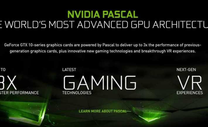 "The website promises ""next-gen VR Experiences"" for the Pascal GPU"