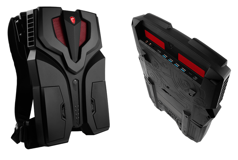 MSI VR One Backpack Front and Back View