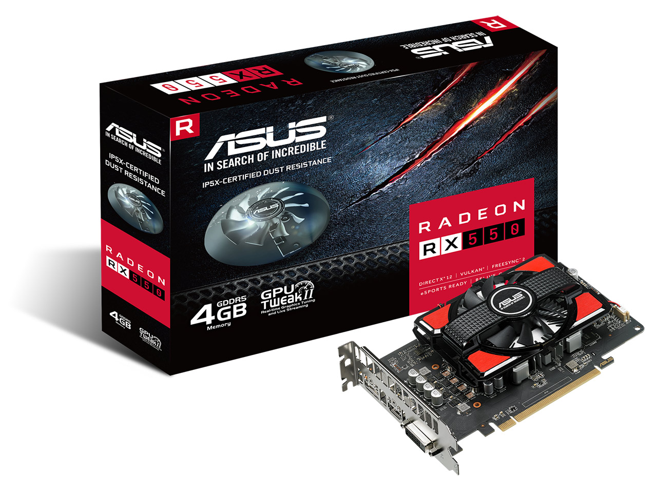 ASUS Radeon RX550 4GB