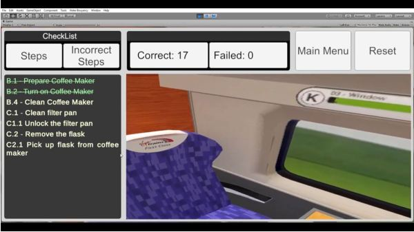 Computing students develop VR experience for Virgin Trains