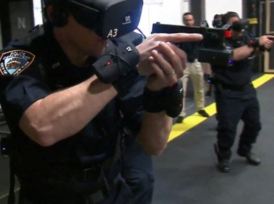 NYPD trains in VR for the first time
