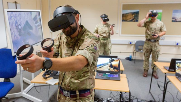 The SimCentric/RAF trial is part of a wider programme to incorporate VR training into the British armed forces. Credit: The RAF