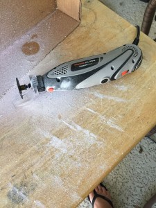 Rotary tool action w/ a new cutting attachment