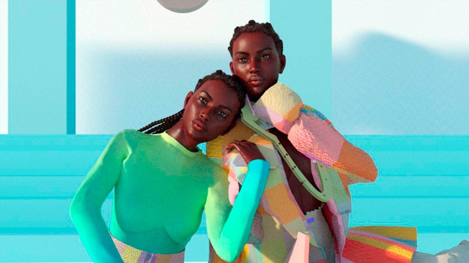 virtual models for a digital fashion show
