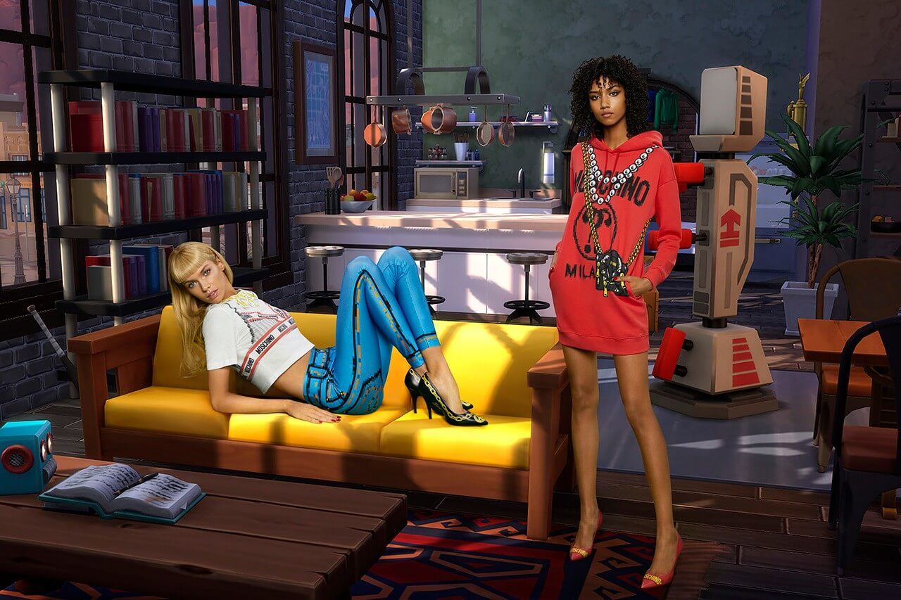 Moschino's collaboration with The Sims