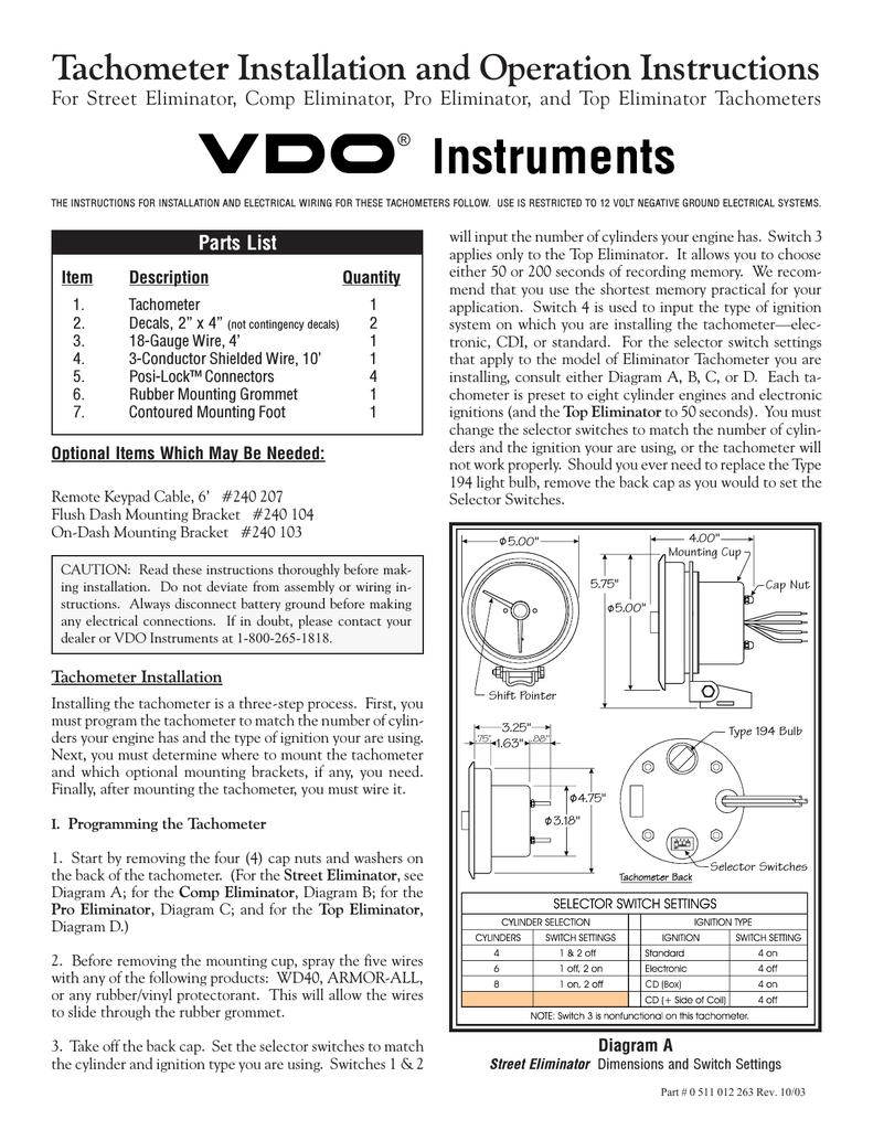 vdo tachometer wiring diagram electrical wiring size, Wiring diagram