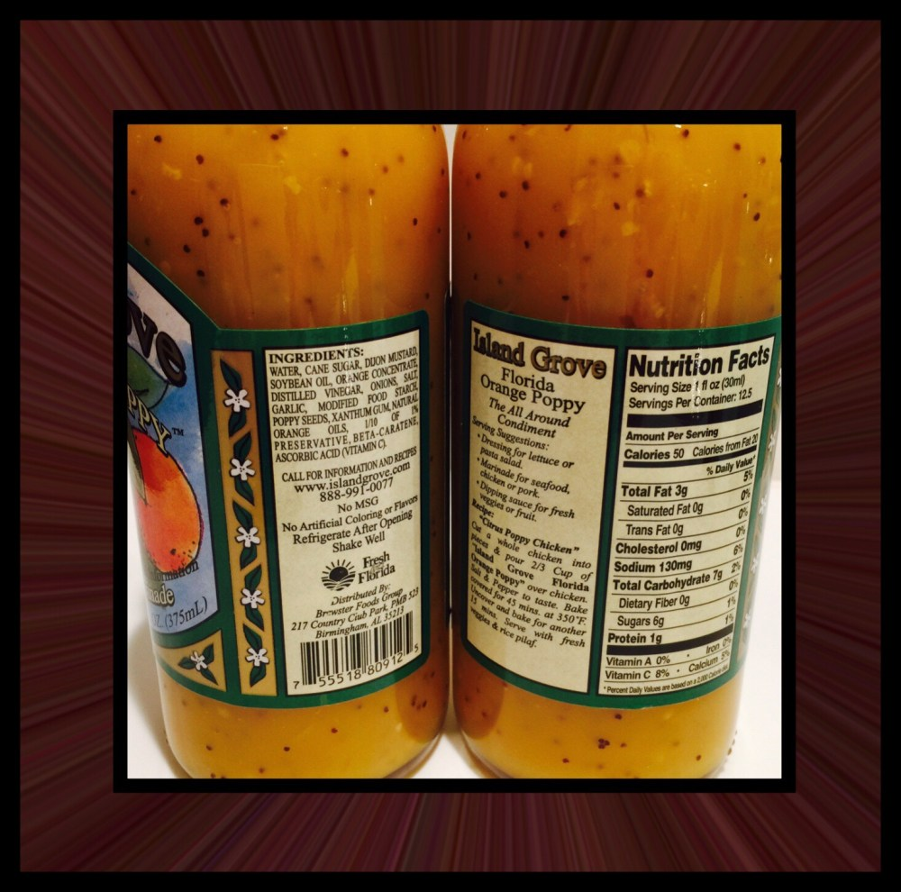 I Love Island Grove Florida Orange Poppy Salad Dressing (3/6)