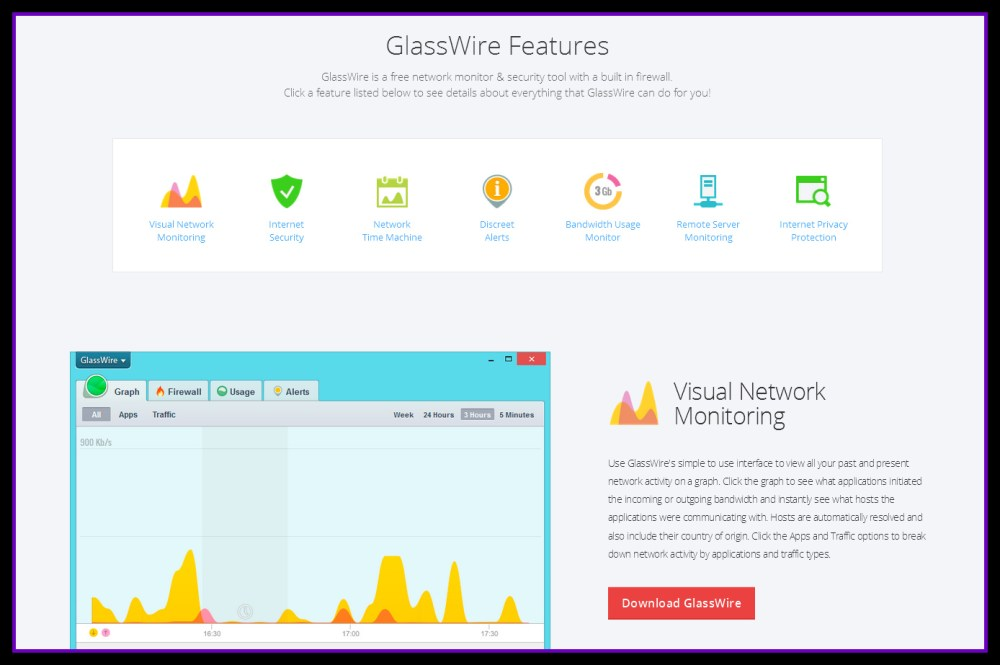 GlassWire |  Free App For Windows Let's You See What's Happening Behind The Scenes With Network Usage (3/6)