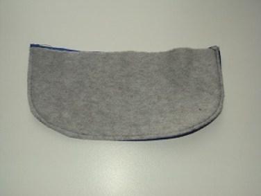 лицевая сторона козырька шапки-ушанки