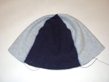подкладка шапки из флиса