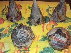 шарики и конусы в газете